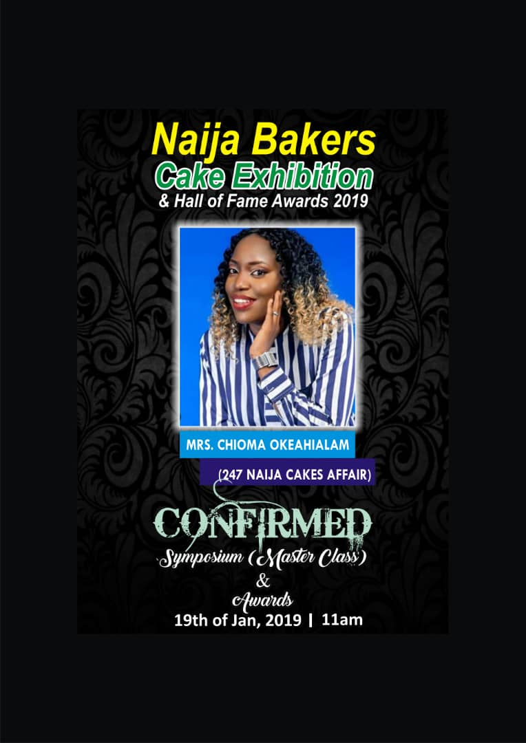 Panelist for the Naija Bakers Cake Exhibition & Hall of Fame
